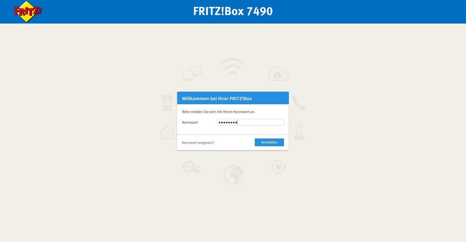 FRITZBox Passwort der Benutzeroberfläche ändern