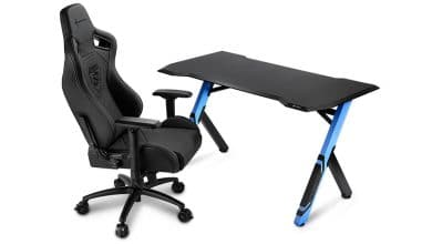 Photo of Sharkoon SKILLER SGD1: Ergonomischer Gaming-Desk aus robustem Material
