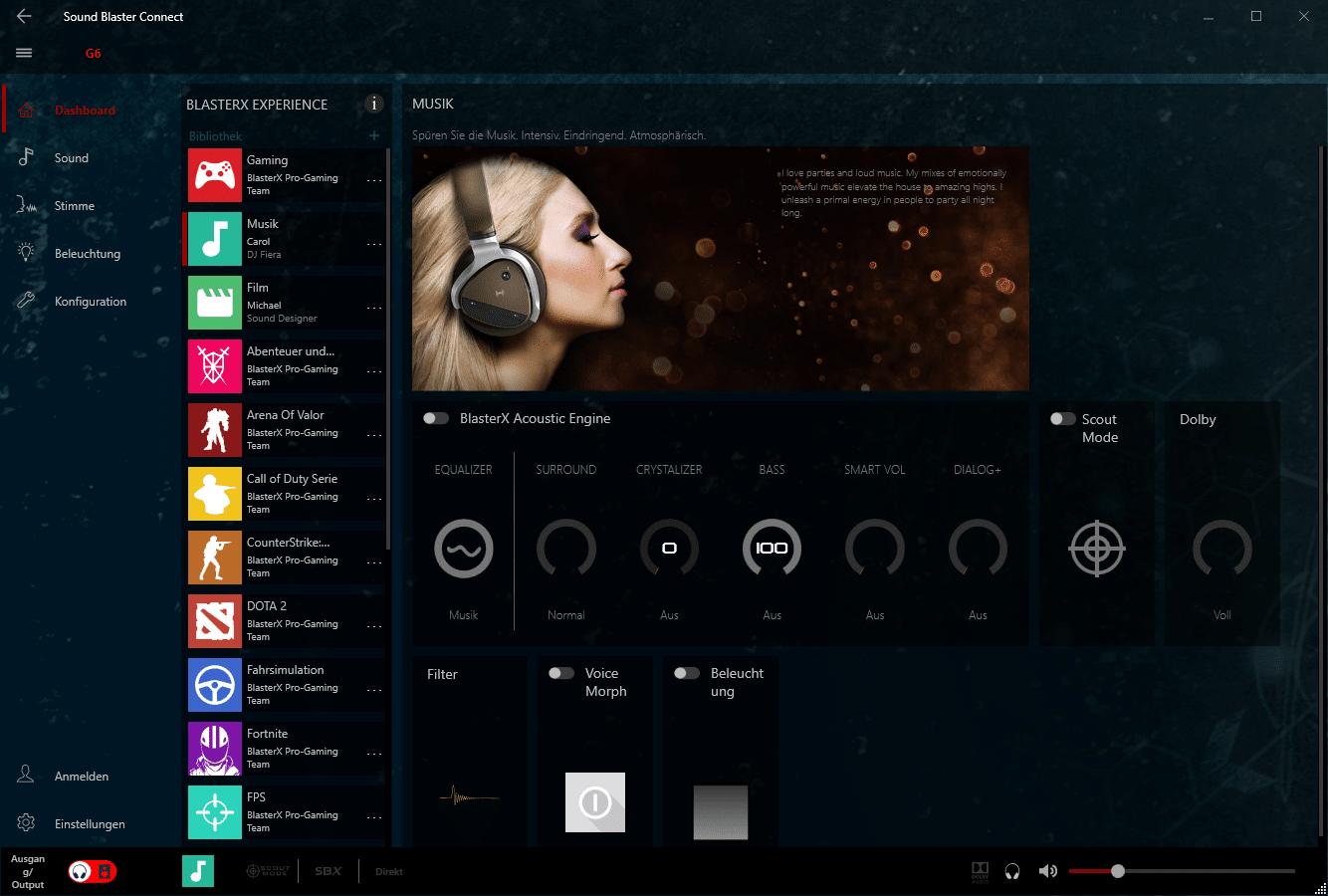 Creative Sound BlasterX G6 USB Sound Card Review: The