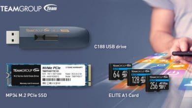 Bild von Team Group mit neuer SSD, Micro-SD-Karte und USB-Stick