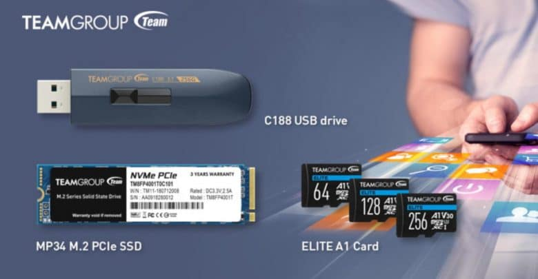 Team Group With New SSD, Micro SD Card and USB Stick