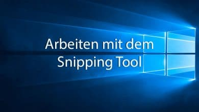 Photo of Arbeiten mit dem Snipping Tool von Windows 10