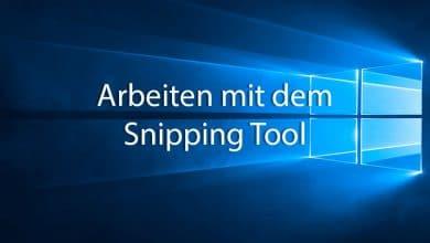 Photo of Arbeiten mit dem Snipping Tool von Windows 10