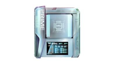 Bild von Asus Konzept-Mainboard Prime Utopia verfügt über Wasserkühlung und OLED-Screen
