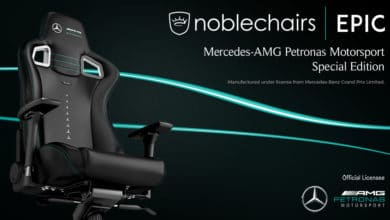 Photo of noblechairs EPIC Mercedes-AMG Petronas Motorsport Edition bei Caseking erhältlich