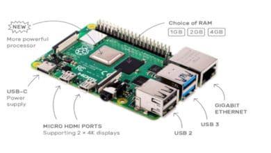 Bild von Raspberry Pi 4 bietet Leistung eines Desktop-Computers