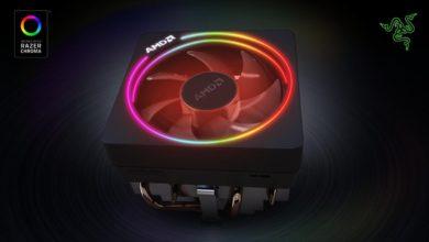 Bild von AMD Wraith Prism Kühler mit Razer Chroma kompatibel