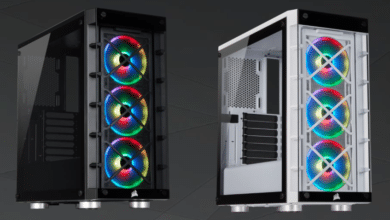 Photo of Corsair iCUE 465X RGB – Midi Tower with Three ARGB Fans