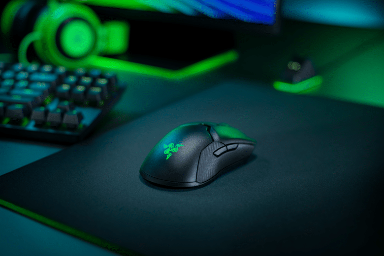 Viper Ultimate Gaming Mouse on a mouse pad