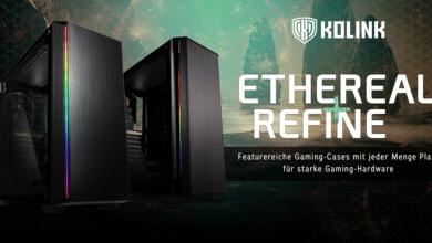 Bild von Kolink Ethereal und Refine: Zwei neue PC-Gehäuse bei Caseking
