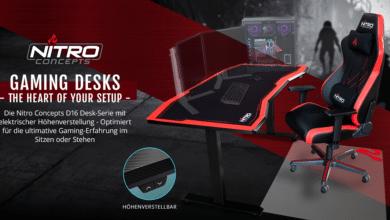 Bild von Nitro Concepts präsentiert D16E & D16M Gaming-Tische