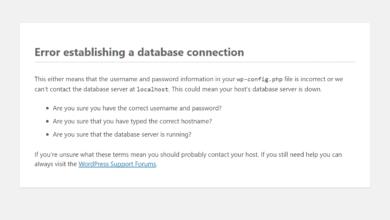 """Bild von WordPress: """"Error establishing a database connection"""" beheben"""
