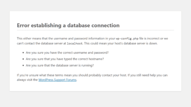"Photo of WordPress: ""Error establishing a database connection"" beheben"