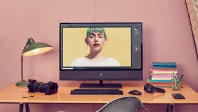 """Bild von HP zeigt schicken """"Envy AiO 32 Zoll""""-PC auf der CES 2020"""