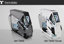 Photo of Thermaltake AH T600: halb offener PC-Tower im Helikopter-Design