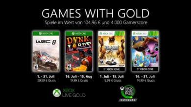 Bild von Games with Gold Juli 2020: Diese Spiele könnt ihr gratis zocken