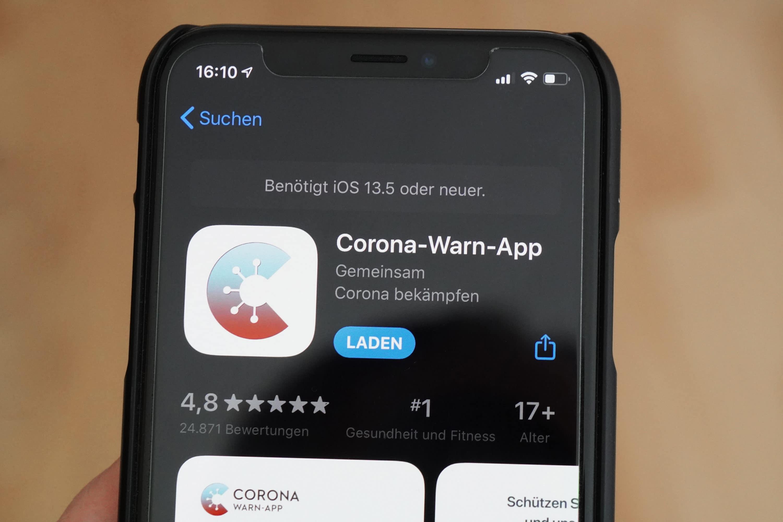 Corona App Betriebssystem