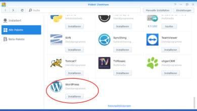 Bild von Wordpress auf dem Synology NAS: Sinn oder Unsinn?