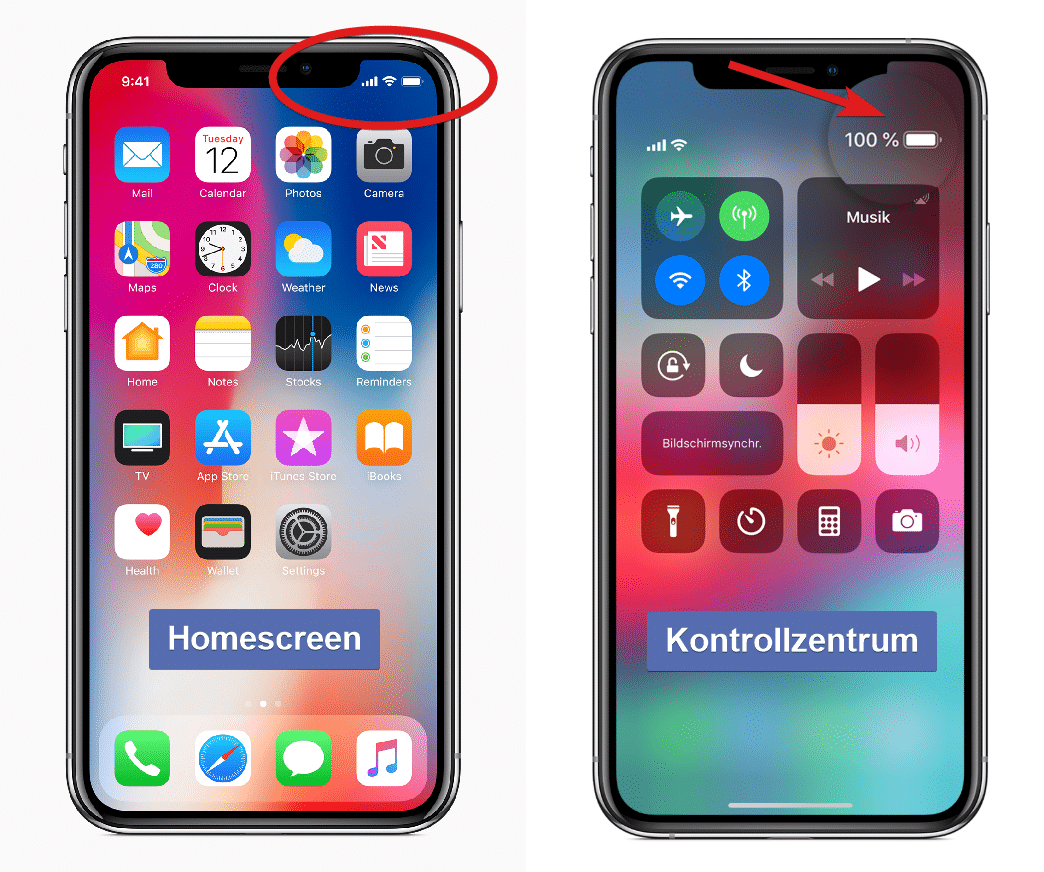 Batterie In Prozent Iphone X