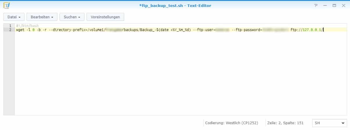 Synology Ftp Backup