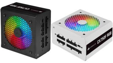 Bild von Corsairs erste RGB-beleuchtete Netzteil-Serie