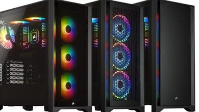 Bild von Corsairs neueste Midi-Tower-Gehäuse: 4000D, 4000D Airflow & 4000X RGB