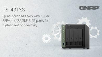 Bild von QNAP präsentiert das TS-431X3 Quad-Core NAS mit 10GbE SFP+ und 2,5GbE Ports