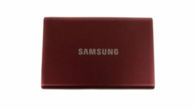 Bild von Samsung Portable SSD T7 im Test