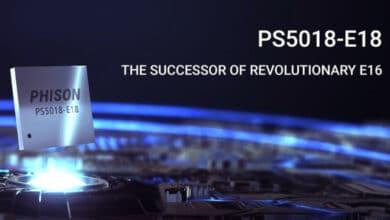 Bild von Phison E18 SSD-Controller schreibt 7 GByte/s
