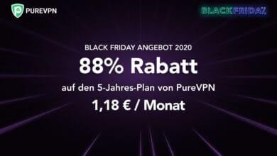 Bild von Black Friday Deal 2020: PureVPN bietet euch 88% Rabatt auf den 5-Jahres-Plan! [Werbung]