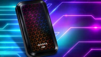 Bild von Externe SSD von Adata: SE770G mit RGB-Beleuchtung