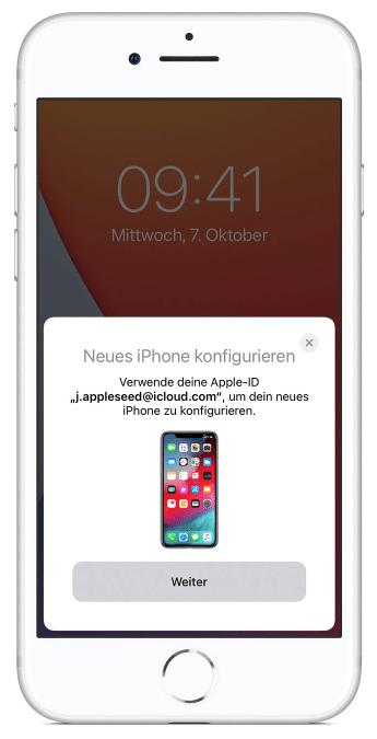 übertrag von alten iphone zu neuen iphone