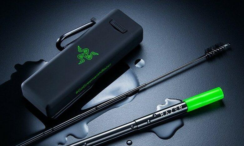Razer publishes a reusable drinking straw