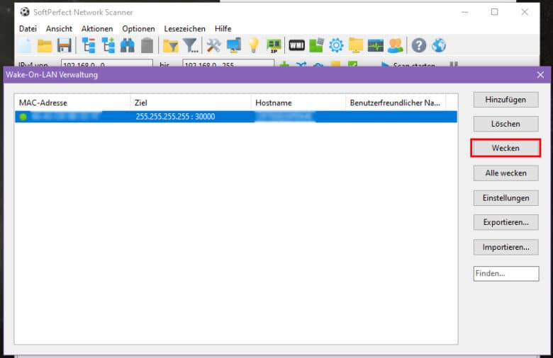 Set WOL for Windows Remotely