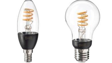 Bild der neuen IKEA TRÅDFRI-Modelle mit Klarglas-Optik