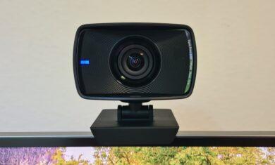 Detailaufname der Facecam mit aktiver Status-LED