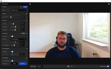 Screenshot aus der Elgato Camera Hub-Software