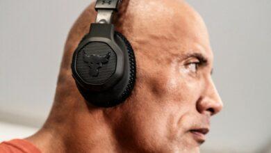 "Under Armour Project Rock Over-Ear Training Headphones Dwayne ""The Rock"" Johnson"