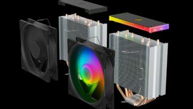 SilentiumPC Fera 5 ARGB CPU-Kühler und Fluctus 120 PWM ARGB Lüfter