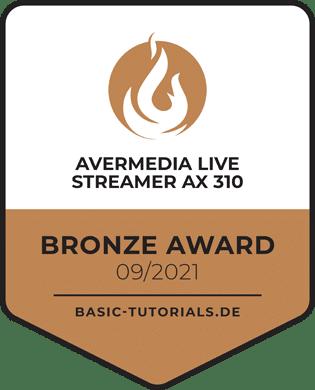 Avermedia Live Streamer AX 310 Award