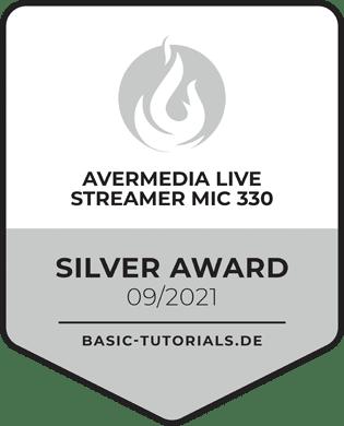 AverMedia Live Streamer MIC 330 Silver Award
