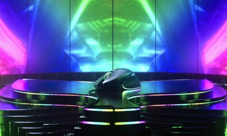 Razer Basilisk V3 Gaming-Maus mit 11 programmierbaren Tasten und innovativem HyperScroll Tilt Wheel
