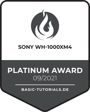 Sony WH-1000XM4 Platinum-Award