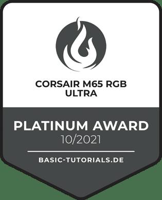 Corsair M65 RGB Ultra Award