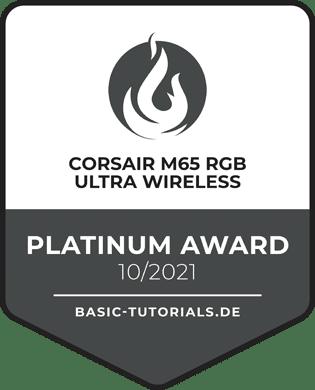 Corsair M65 RGB Ultra Wireless Award
